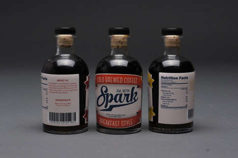 Homemade-Inspired Coffee Branding - Spark Cold Brew Takes on a Vintage and Handcrafted Look