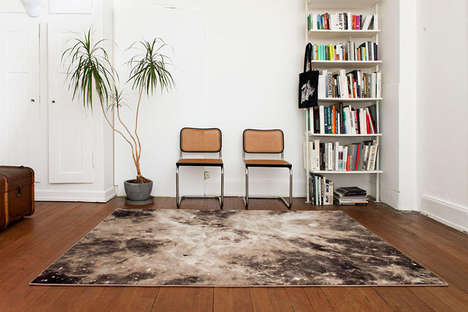 Geeky Galactic Carpets - These Intergalactic Carpets by Schönstaub Feature a Bold Space Print