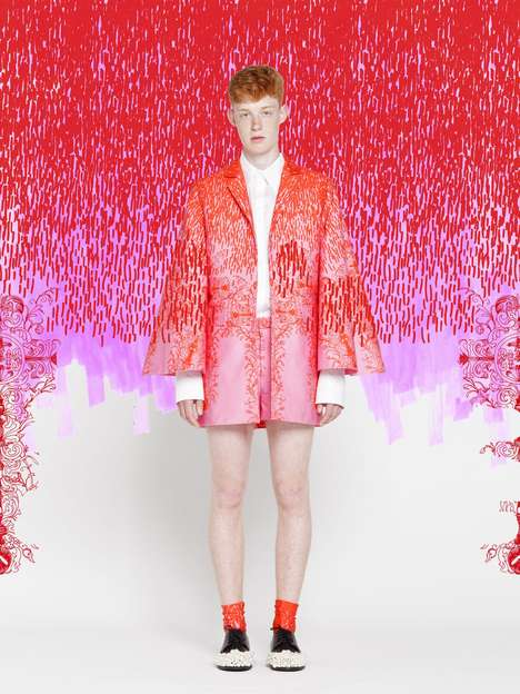 Pattern-Layered Menswear Catalogs - These Xenia Laffely Fashions Embrace Unconventional Concepts