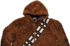 Reversible Galactic Hoodies - These Star Wars Hoodies Simultaneously Depict Chewbacca and Han Solo