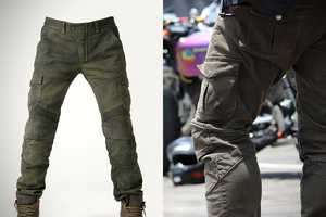 The uglyBROS Motorpool Pants Features Protected Knee and Hip Armor
