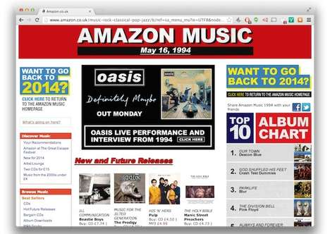 90s Newspaper Site Makeovers - Amazon Music UK Goes Way Back in Time to Pay Tribute to Oasis