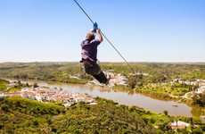 This International Zip Line Amazingly Crosses from Spain to Portugal