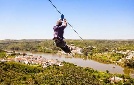 Border-Crossing Zip Lines - This International Zip Line Amazingly Crosses from Spain to Portugal
