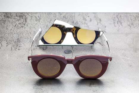 Chic Reversible Shades - The HAiK w/ KAIBOSH Two-Way Sunglasses are Cleverly Reversible
