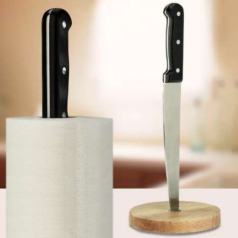 Violent Paper Towel Holders - An Assault Paper Towel Stand May Freak Out First Time Guests