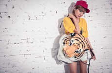 Faux Jungle Taxidermy Accessories - This Stuffed Tiger Backpack Design is Taking Tokyo by Storm
