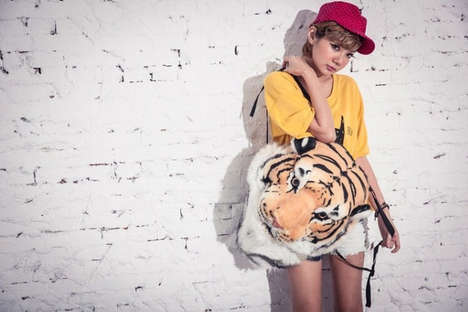 Stuffed Tiger Backpack