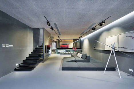 Interior Car Park Homes - This Home by Millimeter Interior Design Features a Parked Ferrari Inside