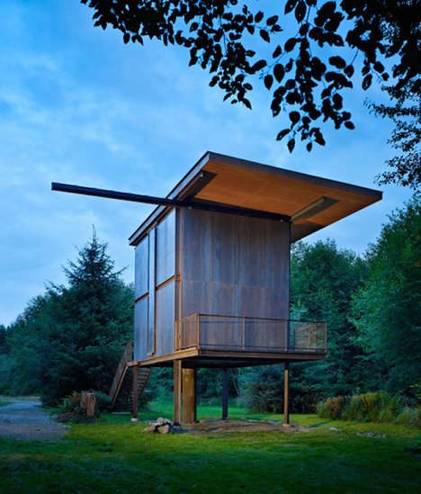 Sturdy Steel Panel Homes - This Cabin by Olson Kundig Architects is Ideal for Apocalyptic Situations