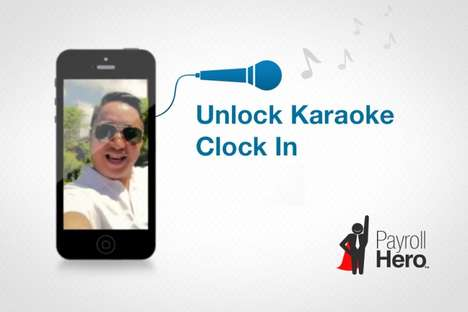 Musical Work Attendance Systems - Payroll Hero Lets You Sing a Karaoke to Clock-In at Work