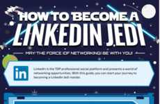 Galactic Social Networking Guides - This LinkedIn Infographic is Full of Contact Mind Tricks