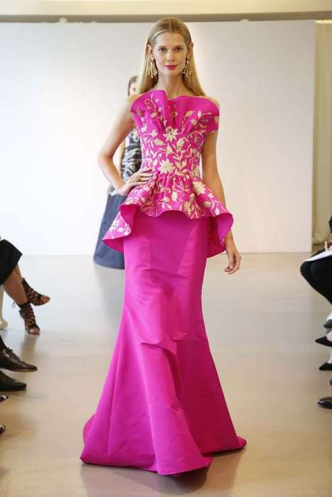 Retro Opulence Runways - The Oscar de la Renta Resort 2015 Collection Shows Gowned Glamour