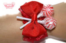 Unconventional Candy Corsages - A Lollipop Wrist Corsage Will Add a Touch of Whimsy to a Prom Outfit