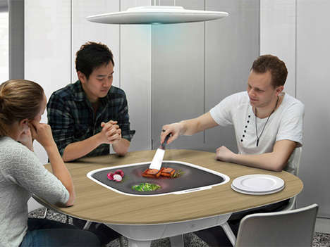 Hybrid Stove Tables - The ENYO Table Allows Users to Cook Right Where They Eat