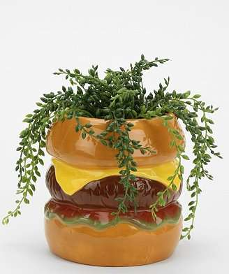 Food-Inspired Planters - The Hamburger Planter Adds Quirk and Charm to a New Home