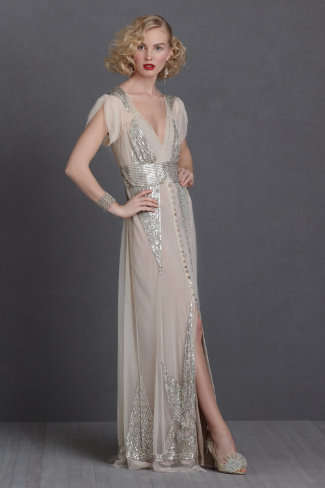 Gatsby-Inspired Bridal Gowns - The Anna Sui Aiguille Gown is Inspired by 1920s Elegance