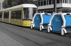 Public Transit Shipping - The Link Urban Logistics System Would Use Trams to Distribute Cargo