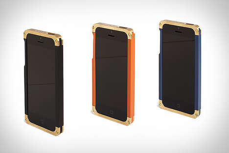 Industrial iDevice Frames - The Revisit Brass iPhone Case Merges Function and Form for Chic Results