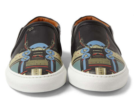 Cyborg Canvas Sneakers - These High-Fashion Givenchy Shoes Have a Robotic Print