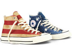Patriotic Banner Sneakers - These Stars and Stripes Converse Sneakers Celebrate Memorial Day 2014