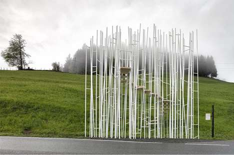 Picturesque Bus Shelters - These Unique Bus Shelters Are Situated in Krumbach, Austria