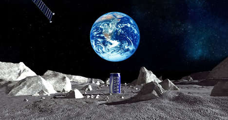 Lunar Soda Advertisements - Beverage Company Otsuka Has Plans to Advertise on the Moon