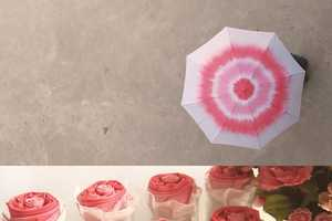 This Spiral Patterned Rose Umbrella Folds Up to Unveil a Flowery Design