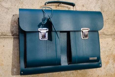 Luxurious Industrial Waste Luggage - These Leather Handbags are Made Out of Recycled Conveyor Belts