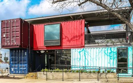 Shipping Container Bars - North Arrow Studio Set Up a Trendy New Hotspot Called
