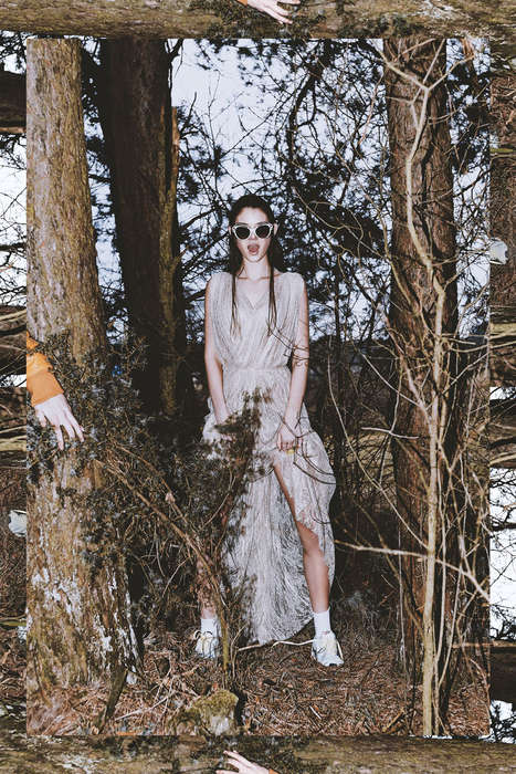 Spine-Chilling Forest Editorials - Bibi & Jacob Photograph Julia Elias for C-Heads