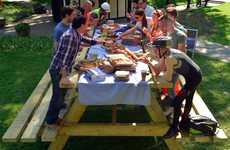 Giant Picnic Lunch Tables