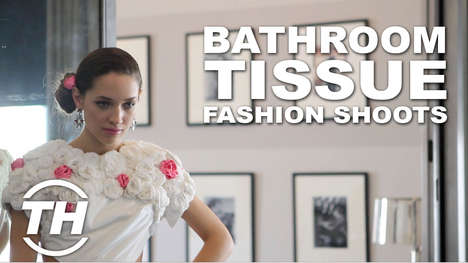 Bathroom Tissue Fashion Shoots - Koby Photographs the 2014 Cashmere Line Bathroom Tissue Dresses