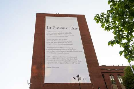 Poetic Air Purifiers - Simon Armitage's in Praise of Air Installation Also Delivers Air Filtration