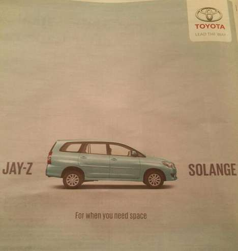 Celebrity Fight Car Ads - This Toyota Ad Cheekily References the Fight Between Jay-Z and Solange