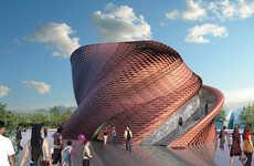 Fluidly Twisting Pavilions - Daniel Libeskind Designs the Vanke Pavilion