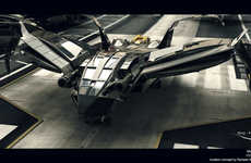 Insect-Inspired Aircrafts - The Sting R12 Aircraft Has a Futuristic Moth Shape