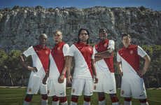 Minimalist Soccer Kits - AS Monaco's New Nike Kit Fuses Retro Sentimentality with Modern Design