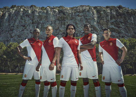 Minimalist Soccer Kits - AS Monaco
