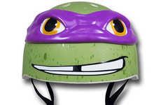 Cinematic Reptile Helmets - Enjoy Riding in Style with the Teenage Mutant Ninja Turtle Bike Helmets