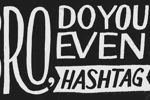Designer Dave Foster is Hand Lettering All His Tweets in May