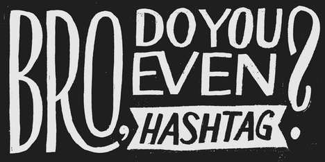 Typographic Social Media Projects - Designer Dave Foster is Hand Lettering All His Tweets in May