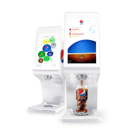 Mixologist Soda Machines - The Pepsi Spire Encourages Users to Mix Together New Flavors