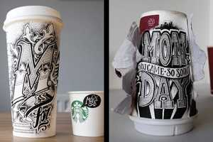 In Coffee Time Artist Rob Draper Does Hand Lettered Coffee Cup Designs