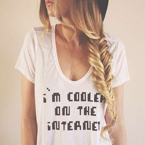Internet Famous T-Shirts - This Fashionable Tee Indicates You Are Cooler on the Internet