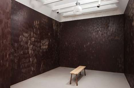 Chocolate Wall Installations - Anya Gallaccio Created a Room with Walls Good Enough to Eat