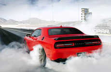 Furiously Predatorial Vehicles - The 2015 Dodge Challenger Features a Cutting-Edge Hellcat Engine