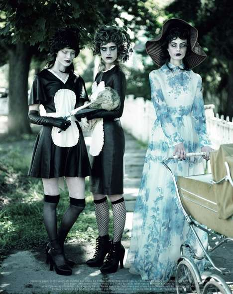 50 Unsettling Editorials - From Undead Housewife Editorials to Glamorous Vixen Photoshoots