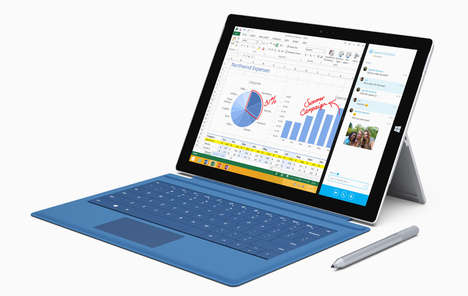 Powerful Hybrid Tablets - The Microsoft Surface Pro 3 Aims to Lessen Dependence on Laptops