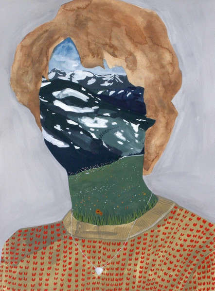 Landscape-Faced Portraits - This Series of Mixed Media Art Portraits is Unique and Fascinating
